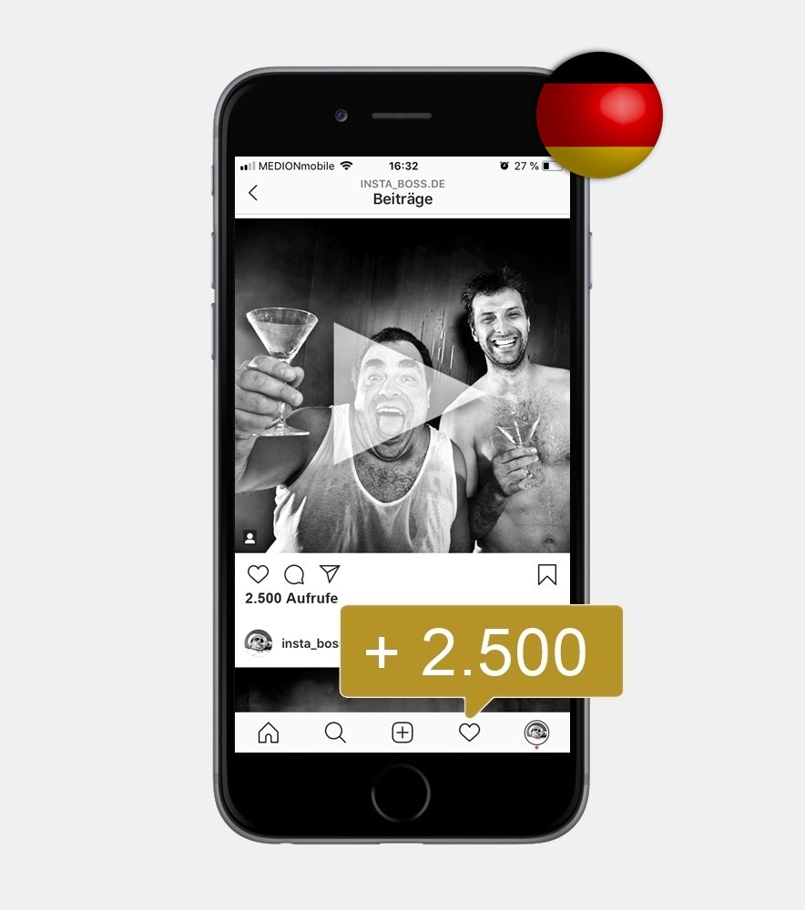2.500 Instagram Video Views - Deutsch kaufen