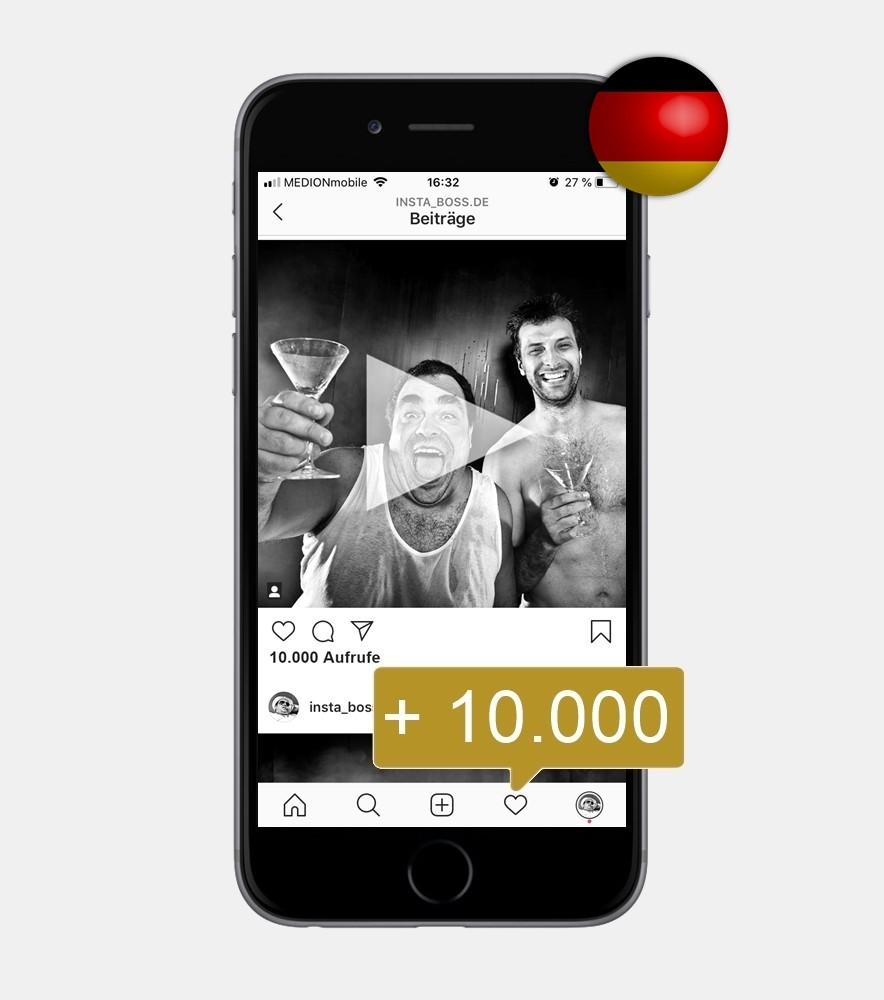 10.000 Instagram Video Views kaufen