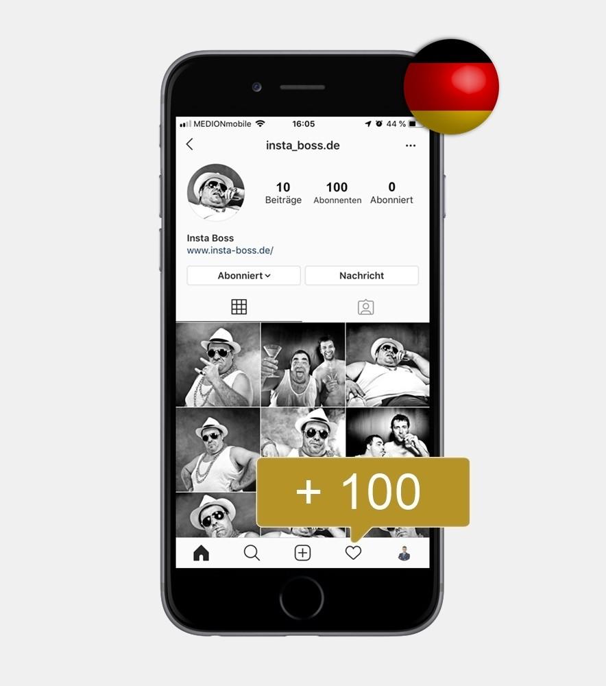100 Instagram Follower - Deutsch kaufen