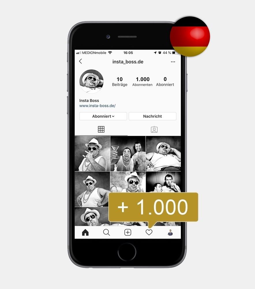 1.000 Instagram Follower - Deutsch kaufen