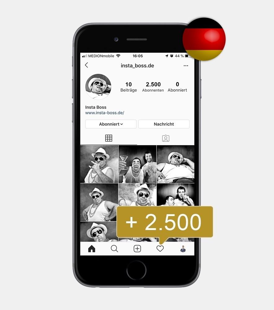 2.500 Instagram Follower - Deutsch kaufen