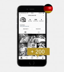200 Instagram Follower - Deutsch kaufen