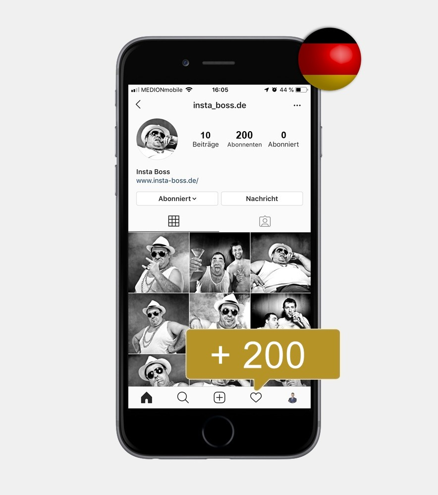 200 Instagram Follower - Deutsch kaufen