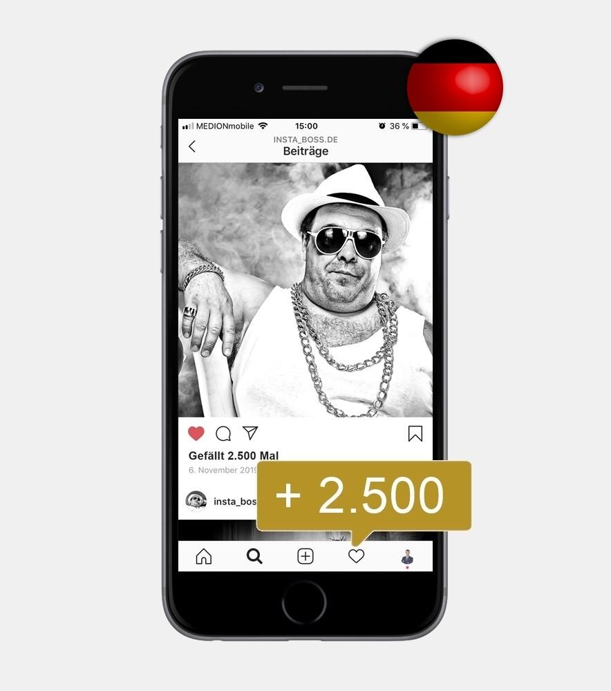 2.500 Instagram Likes - Deutsch kaufen