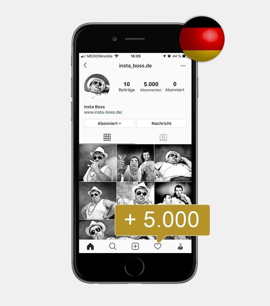 5.000 Instagram Follower - Deutsch kaufen