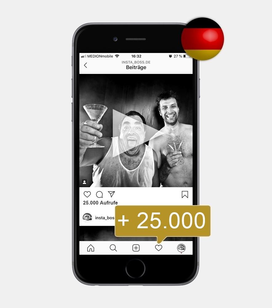 25.000 Instagram Video Views - Deutsch kaufen