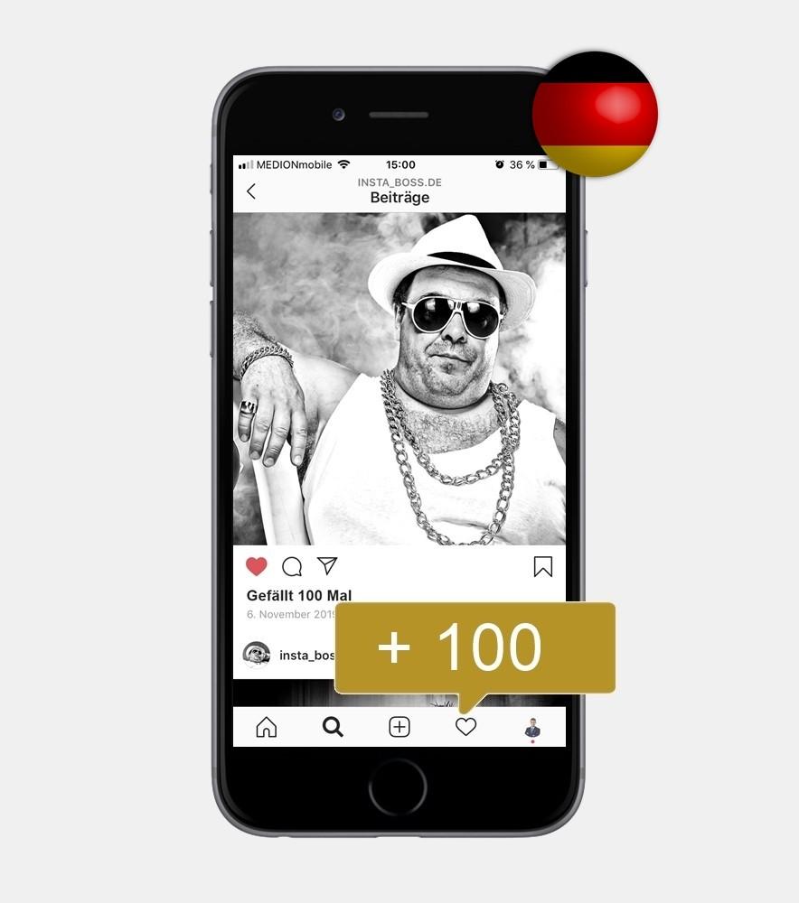 100 Instagram Likes - Deutsch kaufen