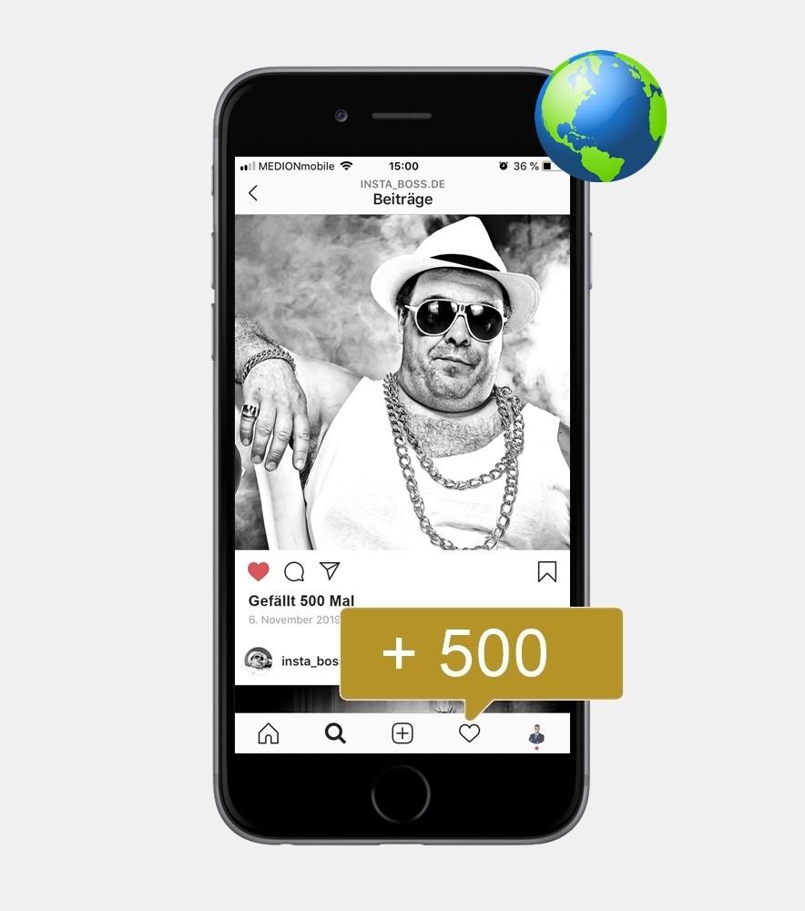 500 Instagram Likes - International kaufen