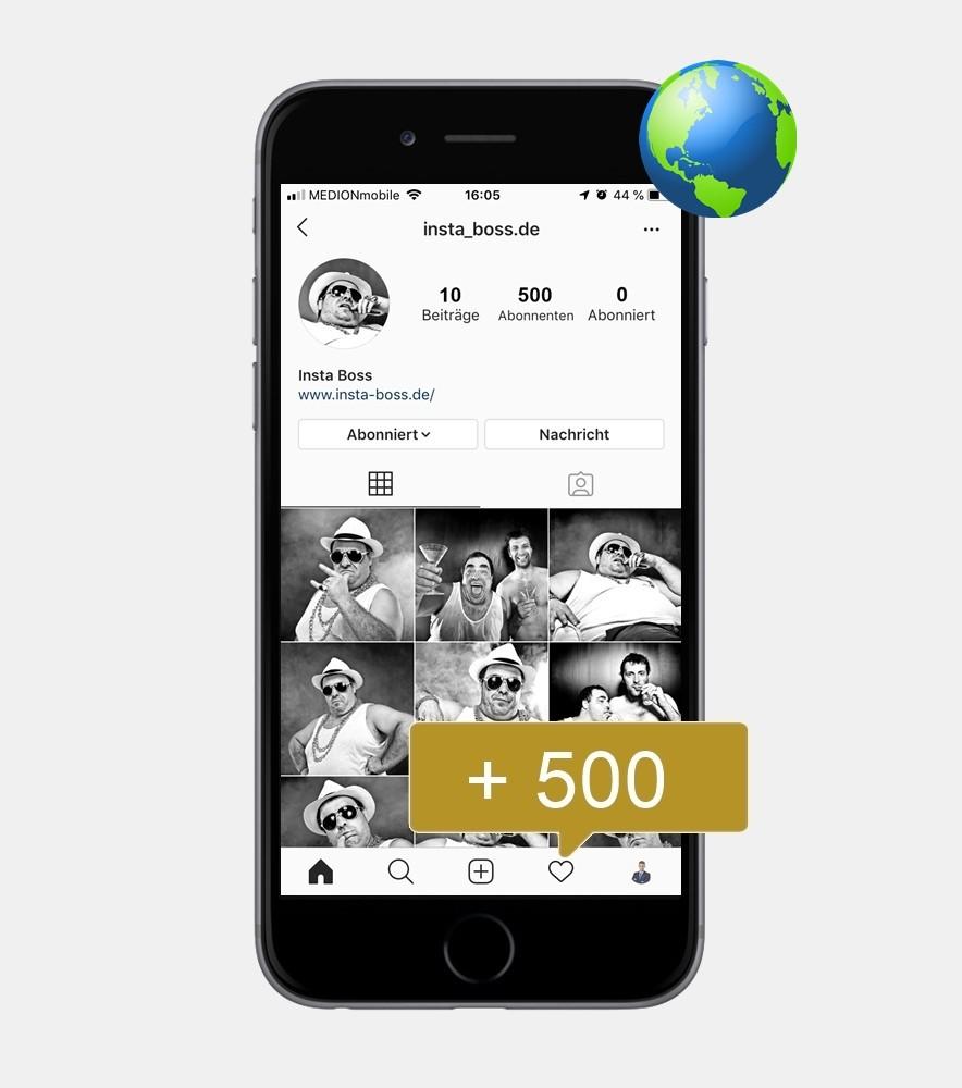 500 Instagram Follower - International kaufen