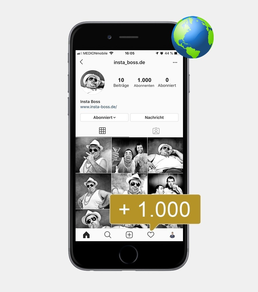 1.000 Instagram Follower - International kaufen